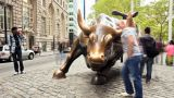 Wall Street Bull stock footage