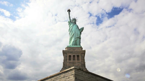 Statue of Liberty, Time Lapse Stock Video Footage