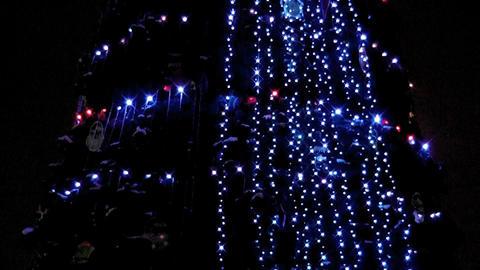christmas light 0001 Stock Video Footage