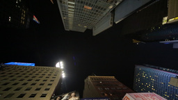Skyscraper Buildings From Below In Times Square Ne stock footage