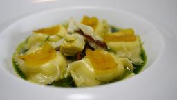 Gourmet Restaurant Food Ravioli Fine Dining stock footage