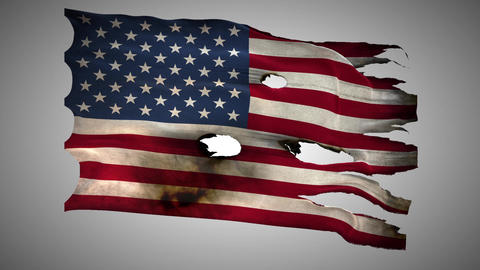 United States of America perforated, burned, grung Footage