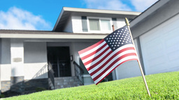 VID 276 flag house HD Footage