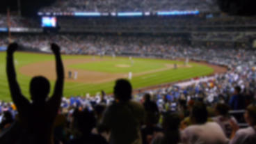Baseball Stadium Home Run Audience Reaction stock footage