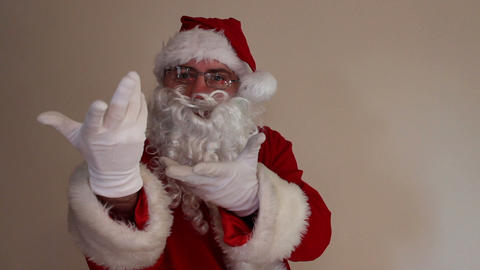 Santa Claus magic gesture Footage