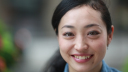 Asian Woman Smile Face Portrait stock footage