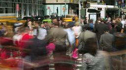Crowd Of People Walking Street Timelapse stock footage