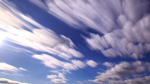 Shadows of clouds in the sky. Clouds blurred Footage