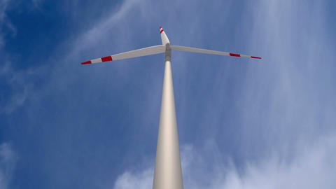 Wind Mill Low Angle Time Lapse stock footage