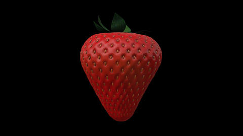 Strawberry Animation Rotate Animation