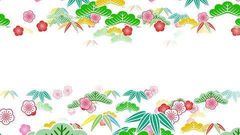 Japanese Pattern Shochikubai A 1 4k Animation