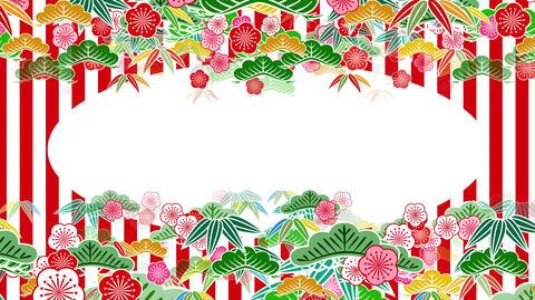 Japanese Pattern Shochikubai A 1rw 4k Animation
