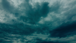 Dark Storm Rainy Clouds Gathering Above stock footage