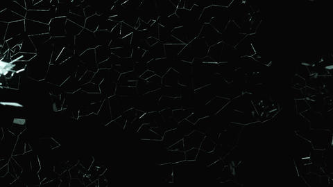 Splitted and Shattered glass with slow motion. Alp Animation
