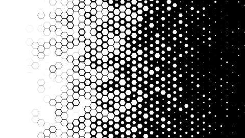 Hexagon Transition Luma Matte Footage