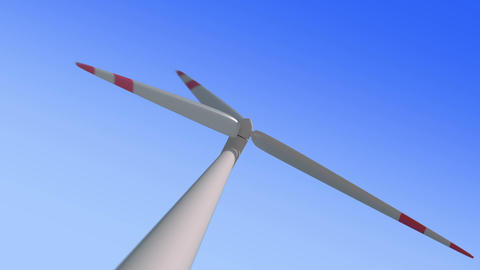 Wind mill low angle zoom loop Animation