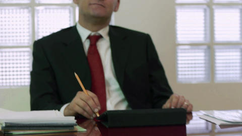 Portrait Of Mid Adult Male Manager Smiling And Loo stock footage