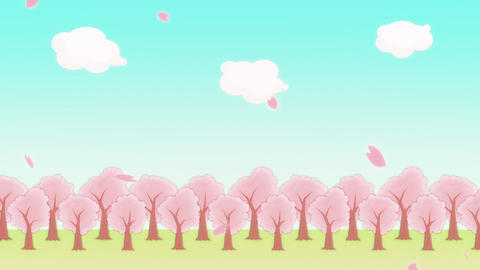 SAKURA - animated BG Animation