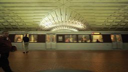 Washington D.C. Metro Subway Station Train stock footage