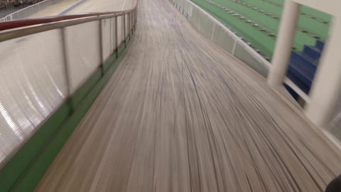 Riding On The Bike Bicycle Track stock footage