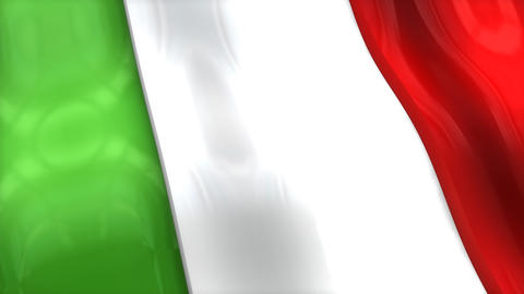 3D Flag, Italy stock footage