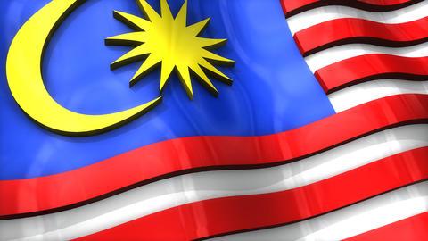 3D flag, Malaysia Animation