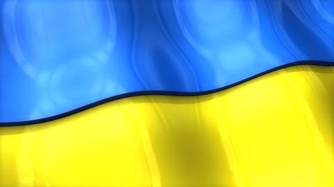 3D flag, Ukraine Animation