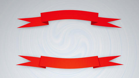 Banner ribbon background Animation