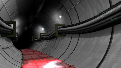 Underground cable and pipe tunnel Animation