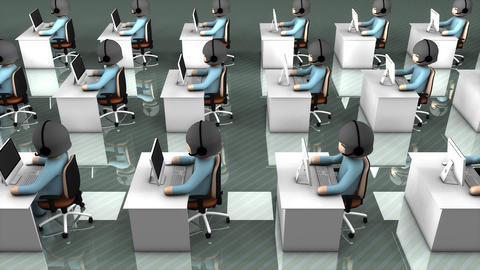 Call center concept animation Animation