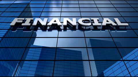 Financial building blue sky timelapse Animation