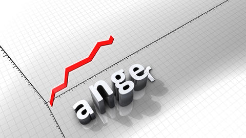 Growing chart graphic animation, Anger Animation