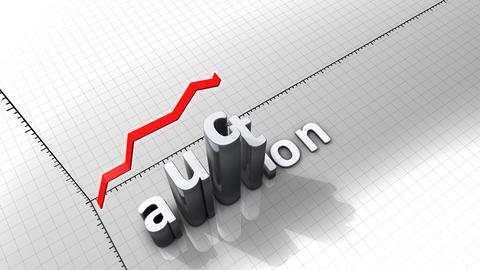 Growing chart graphic animation, Auction Animation