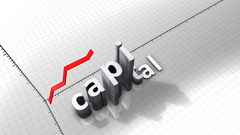 Growing chart graphic animation, Capital Animation