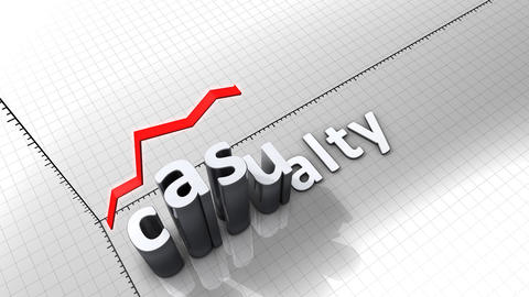 Growing Chart Graphic Animation, Casualty stock footage