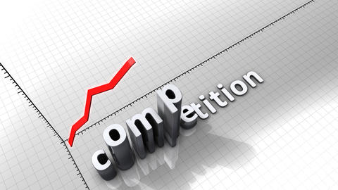 Growing chart graphic animation, Competition Animation