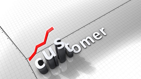Growing chart graphic animation, Customer Animation