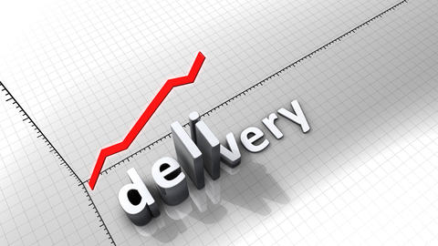 Growing chart graphic animation, Delivery Animation
