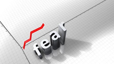Growing chart graphic animation, Fear Animation