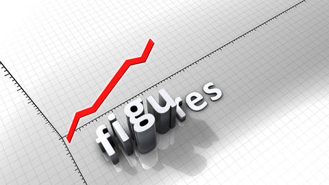 Growing Chart Graphic Animation, Figures stock footage