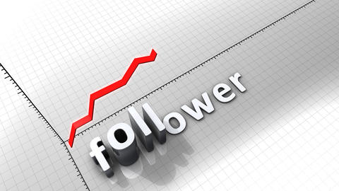 Growing chart graphic animation, Follower Animation
