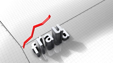 Growing chart graphic animation, Fraud Animation