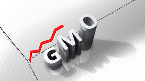 Growing chart graphic animation, GMO, genetically  Animation