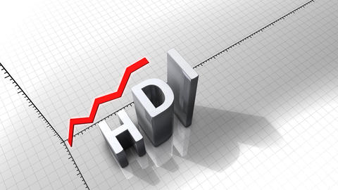 Growing Chart Graphic Animation, HDI(Human Develop stock footage