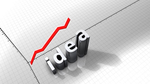 Growing Chart Graphic Animation, Idea stock footage
