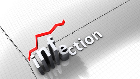Growing Chart Graphic Animation, Infection stock footage