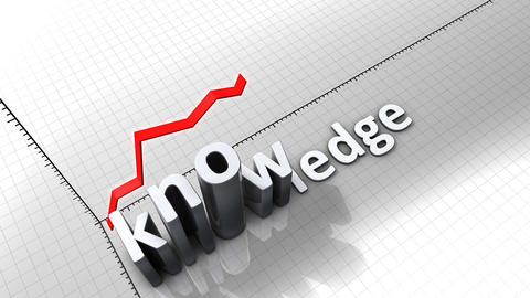 Growing chart graphic animation, Knowledge Animation