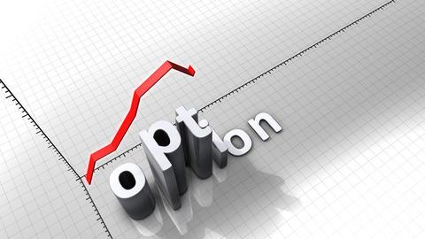 Growing chart graphic animation, Option Animation