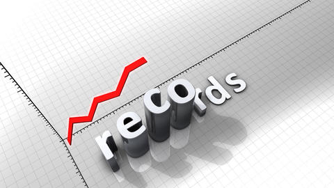 Growing chart graphic animation, Records Animation