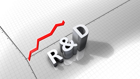 Growing chart graphic animation, R&D Animation